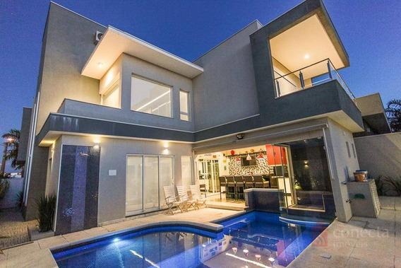 Casa Com 3 Dormitórios À Venda, 324 M² Por R$ 1.500.000,00 - Condomínio Terras Do Cancioneiro - Paulínia/sp - Ca1185