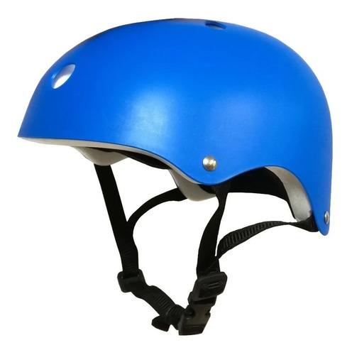 Imagen 1 de 2 de Casco Skate Infantil Lisos Bicicleta Rollers Proteccion