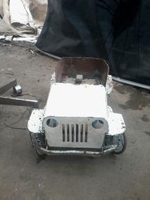 Jeep Jipe De Lata Pedalcar Antigo Marca Genovesi