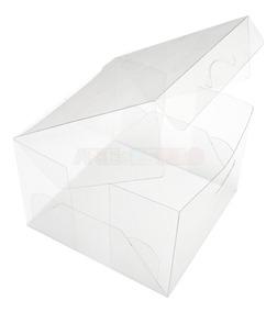 200 Caixas De Acetato Transparente 10x10x7 Cm Caixinhas Pet