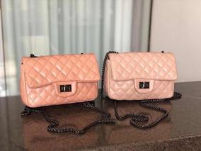 Bolsa Transversal Inspiração Chanel Moda Inverno 2019 Qualid