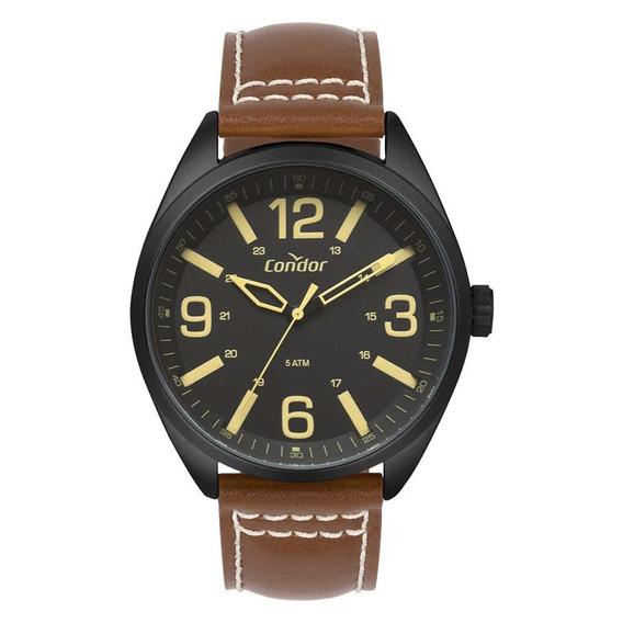 Relógio Condor Masculino Co2035mpe/2p Couro Marrom
