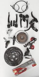Kit De Marcha Completo De 18v + Freio V-brake Completo
