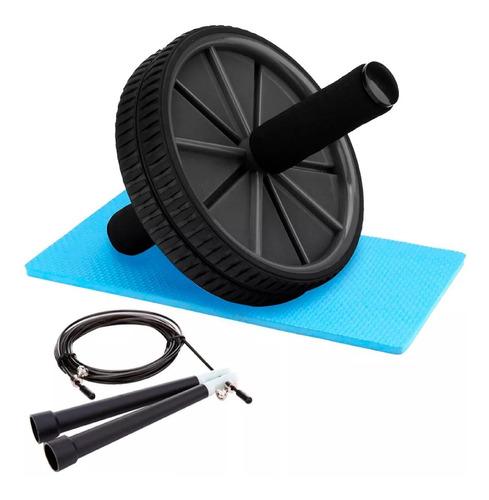 Kit Rueda Para Abdominales + Soga Para Saltar Gym Maverick