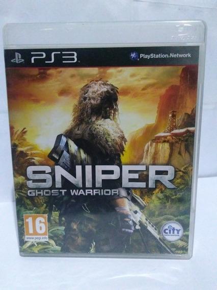 Jogo Sniper Ghost Warrior Ps3 Mídia Fisica Completo R$59,90