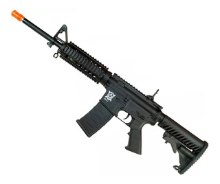 Rifle Airsoft Aps Aeg M4 Ris Full Metal Blowback Asr104