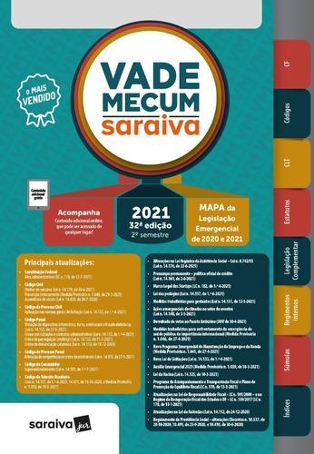 Imagem 1 de 1 de Vade Mecum Saraiva Tradicional 2021/2º Semestre - 32 Edição