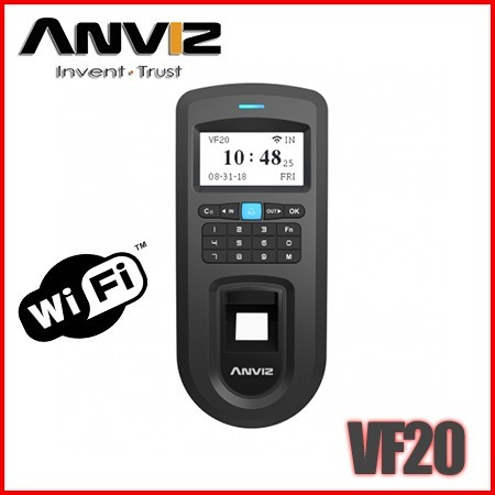 Control De Acceso,asistencia Biométric Anviz Vf20= Vf30 Wifi