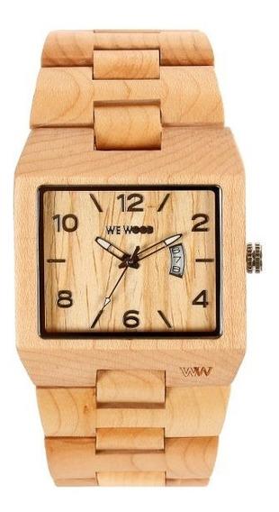 Relógio De Madeira Wewood - Sculptor - Wws01