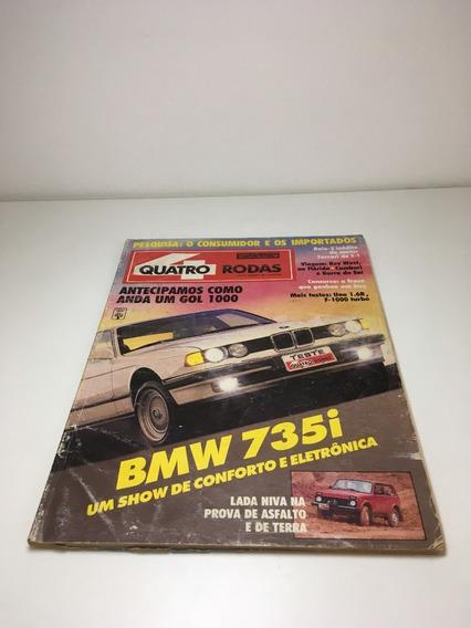 Revista Quatro Rodas Janeiro 1991 Bmw735i N366