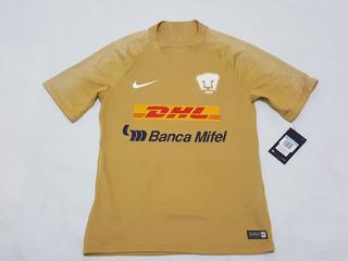 Jersey Pumas Entrenamiento Oro Nike Utileria 2020-2021