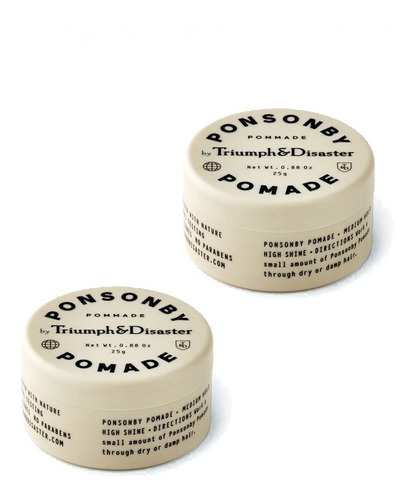 Imagen 1 de 3 de Ponsonby Mini (x2) - Pomada Para Cabello T&d