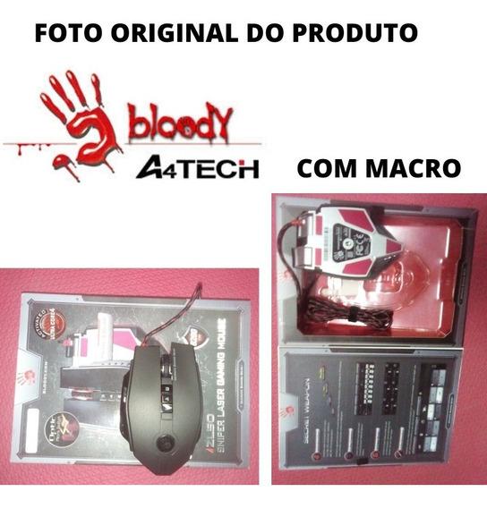 Mouse Game Blood Zl50a A4tech C/macro Frete Grátis +vendido