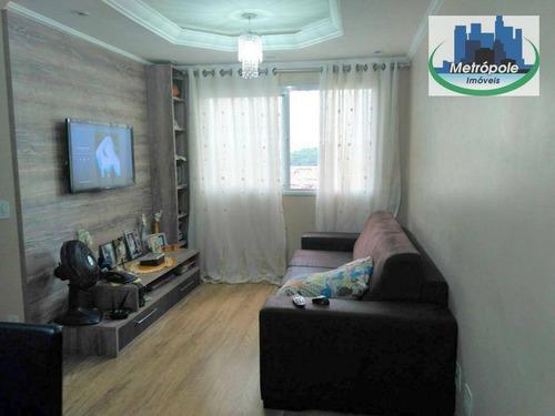 Apartamento Com 2 Dormitórios À Venda, 58 M² Por R$ 284.900,00 - Jardim Nova Taboão - Guarulhos/sp - Ap0508