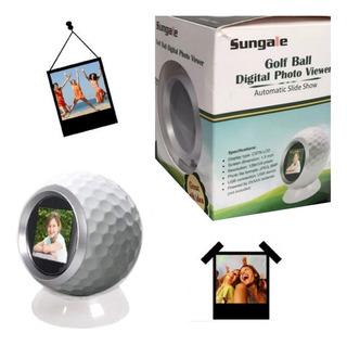 Porta Retrato Digital Foto Usb 100 Fotos Pelota Golf