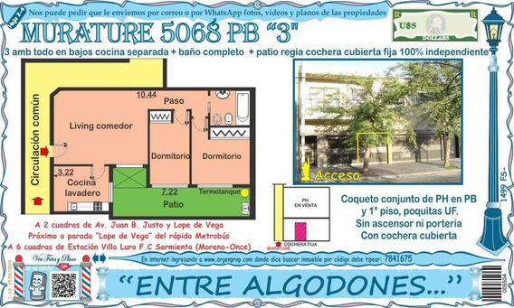 Entre Algodones -3 Amb Todo En Bajos + Cochera Cub.