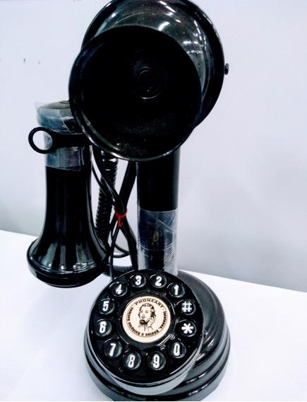 Telefone Castiçal Retro - Novo, Funciona E Decora