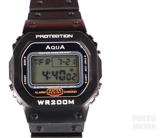 Relógio Bolsonaro Masculino Aqua Gp 519 Digital Prova D