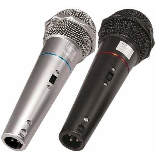 Kit 2 Microfones C/ Fio De Mão Dinâmico Chave Cabo 3m Csr505