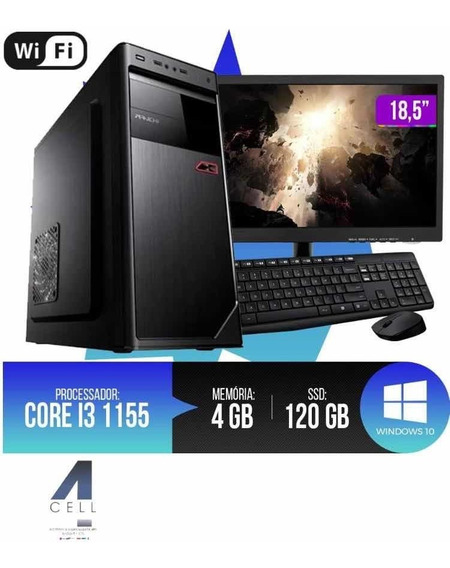 Pc Completo Intel Core I3 4gb Ram Ssd120