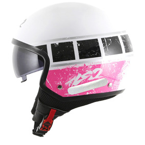 Capacete Ls2 Of561 Wave Rook Branco/rosa Rs1
