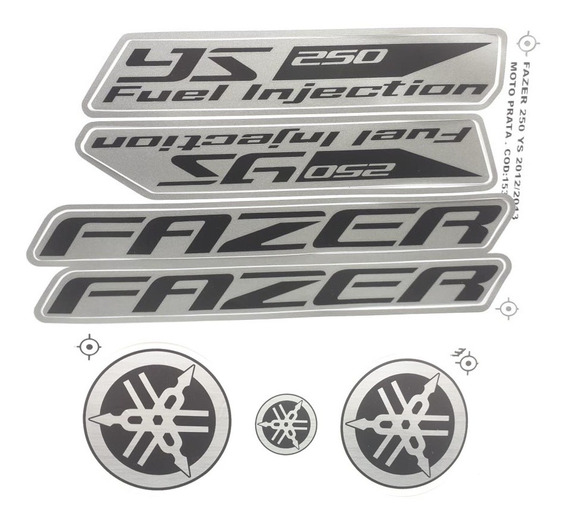 Faixas / Kit Adesivos Yamaha Fazer 250 Prata 2012 / 2013