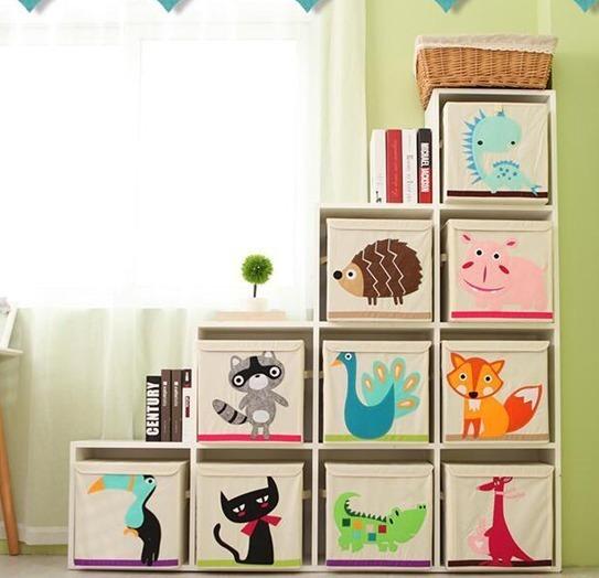 Caja Organizador Juguete Ropa Diseño Animal