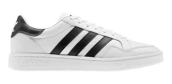 Zapatillas adidas Team Court Blanco/negro - Hombre Moda