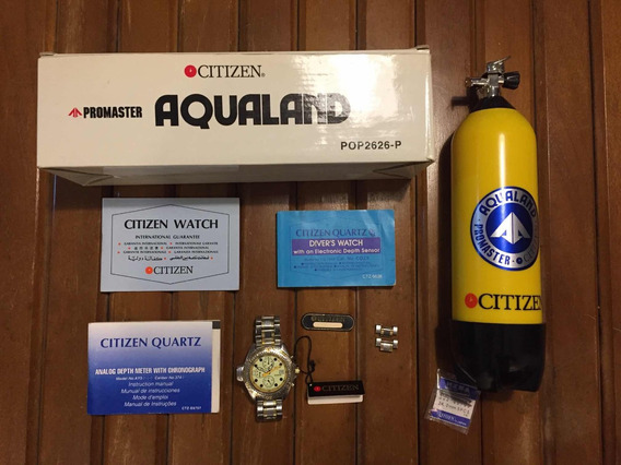 Relógio Citizen Aqualand 3740 Mais Citizen Co22 Raridade