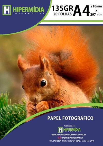 Papel Fotográfico Brilho 135g 200 Folhas