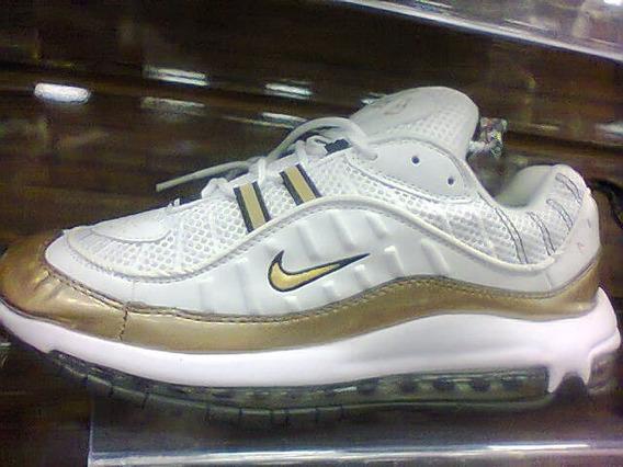 Tenis Nike Air Max 97 Branco E Dourado Nº38 Ao 43 Original!!