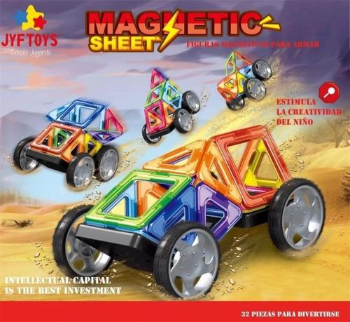Imagen 1 de 10 de Bloques Imanes Didactico Magneticos Magnetic 32 Piezas