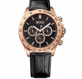 Relógio Hugo Boss Masculino Couro Preto Edição Especial 50 A