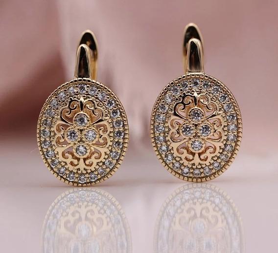Brinco Feminino Vintage Rose Gold Luxuoso Presente
