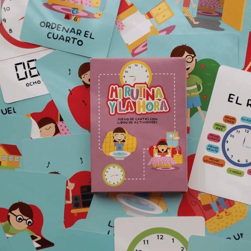 Mi Rutina Y La Hora - Juego Para Niños Montessori- Lakalumba