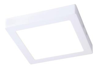 Plafon Led Cuadrado Exterior 18w Luz Fria