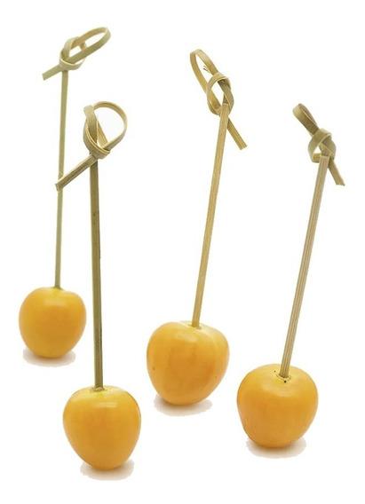 100u Pinchos De Bambú Largos 12cm - Finger Food Catering