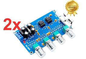 2xplaca Montada De Pré-amplificador Com Controle Tons Ne5532