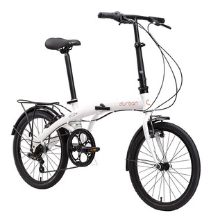 Bicicleta Dobrável Durban Eco+ Branca