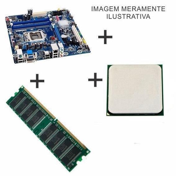 Kit Placa Mae Com Monitor
