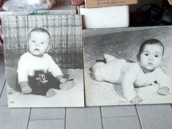 2 Fotos Anos 70. 45 X 60 Cm. Cada. Painel Fotográfico.
