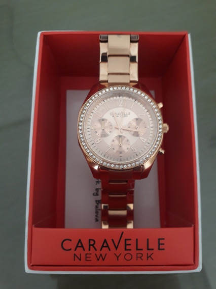 Relógio Caravelle New York By Bulova Feminino 44l117 Origina