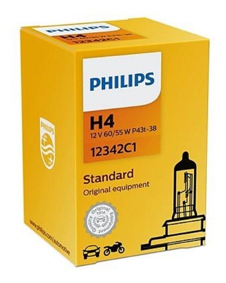 Lampada Comum 12v Mod. H4 60/55w Original Philips 12342 Par