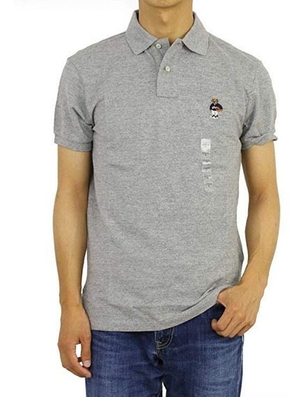 Camiseta Masculina Polo Ralph Lauren Custom Fit Urso Bear