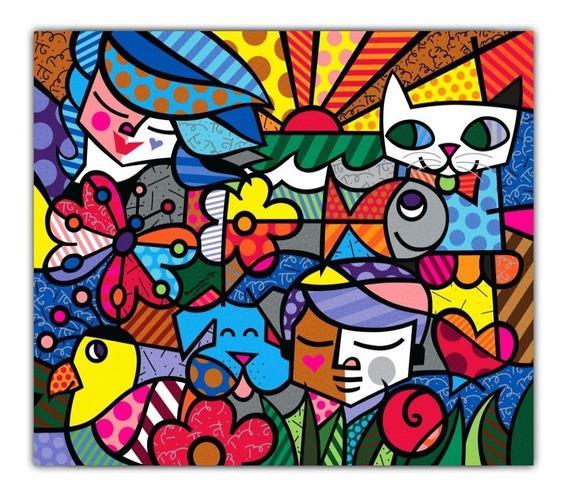 Romero Britto Poster Grande Foto 60cmx70cm Obra Garden