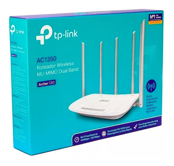 Roteador Tp-link Archer C60 Ac1350 Dualband + Nf 1ano Garant