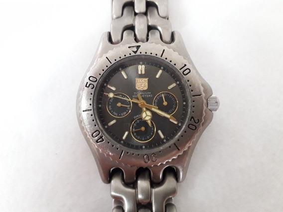 Relógio Quartz Elgin Titanium Usa. 200m Water Resistant