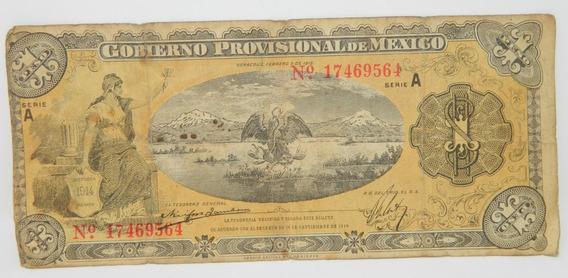 Billete Un Peso $1 Gobierno Provisional De México 1915 #2