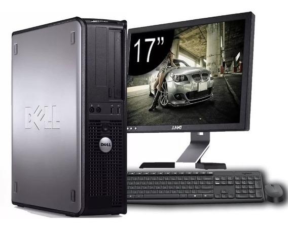Cpu Dell Core 2 Duo + Monitor Dell 17 Computador Completo
