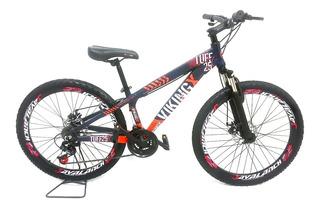 Bicicleta Mtb 26 Vikingx Tuff 25 X Freio A Disco E Suspensao